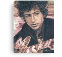 BOB DYLAN PORTRAIT IN INK Canvas Print