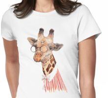 Lady Giraffe Womens Fitted T-Shirt