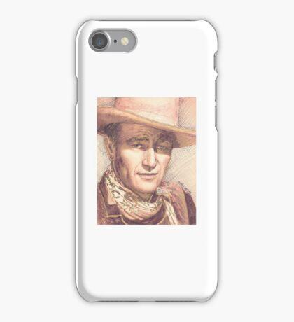 JOHN WAYNE PORTRAIT IN INK iPhone Case/Skin
