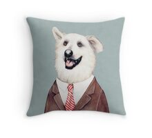 Happy Labrador Retriever Throw Pillow