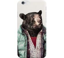 Black Bear (Mint Green) iPhone Case/Skin