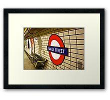 Baker Street Tube Station Framed Print