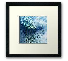 Abstract blue scales .2 Framed Print