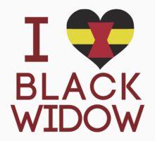 I Heart Black Widow V1 Kids Clothes