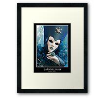 Carnival Mask Framed Print