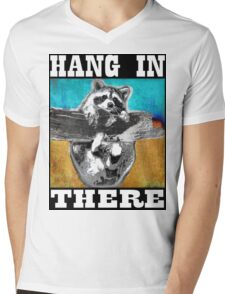 Hang In There Mens V-Neck T-Shirt