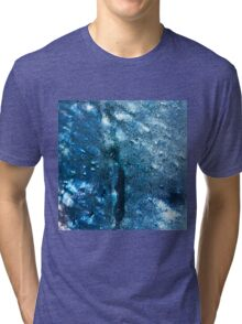 Abstract blue scales 3 Tri-blend T-Shirt
