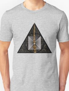 Deathly Hallows symbol with realistic objects T-Shirt