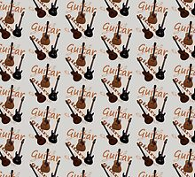 Guitar Doona Cover by Leonie Mac Lean