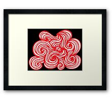 Pickup Abstract Expression Red White Black Framed Print