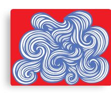 Croff Abstract Expression Red Blue Canvas Print