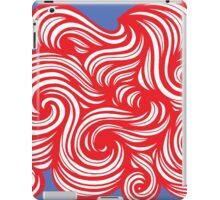 Culbreath Abstract Expression Red Blue iPad Case/Skin
