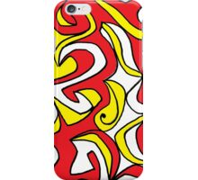 Casey Abstract Expression Yellow Red Black iPhone Case/Skin