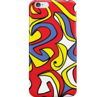 Potash Abstract Expression Yellow Red Blue iPhone Case/Skin