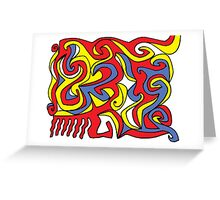 Potash Abstract Expression Yellow Red Blue Greeting Card