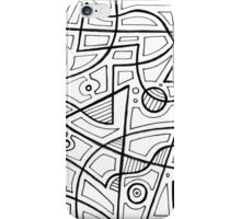Gregersen Abstract Expression Black and White iPhone Case/Skin