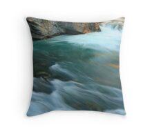 Velvety flow Throw Pillow