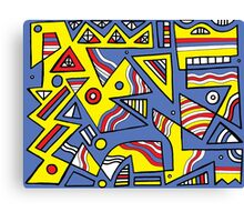 Carse Abstract Expression Yellow Blue Canvas Print