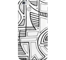 Wheldon Abstract Expression Black and White iPhone Case/Skin