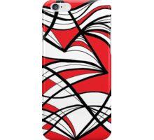 Grafenstein Abstract Expression Red White Black iPhone Case/Skin