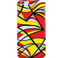 Magalski Abstract Expression Yellow Red iPhone Case/Skin