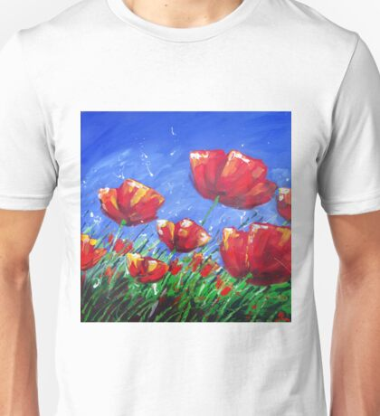 Summer Poppies Unisex T-Shirt