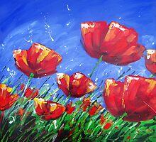 Summer Poppies by Ira Mitchell-Kirk