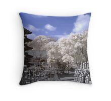 Pagoda Dreams (IR) Throw Pillow