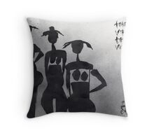 Three Virgins Three Wives No. 7 Throw Pillow