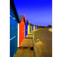 Bright Beach Huts Photographic Print
