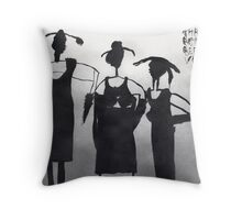 Three Virgins Three Wives No. 6 Throw Pillow