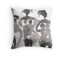 Three Virgins Three Wives No. 3 Throw Pillow