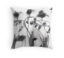Three Virgins Three Wives No. 2 Throw Pillow