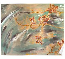 Abstract Cherryblossoms I, Stefania Silk Arts Poster