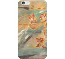 Abstract Cherryblossoms I, Stefania Silk Arts iPhone Case/Skin