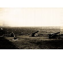 Big Guns In Sepia Photographic Print