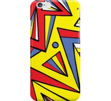 Vejar Abstract Expression Yellow Red Blue iPhone Case/Skin