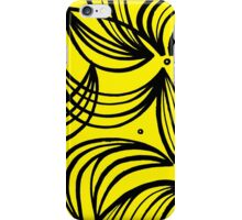 Ostenson Abstract Expression Yellow Black iPhone Case/Skin