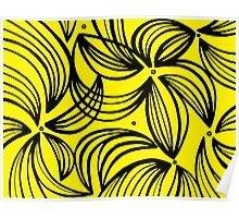 Ostenson Abstract Expression Yellow Black Poster