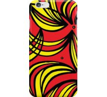 Tena Abstract Expression Yellow Red Black iPhone Case/Skin