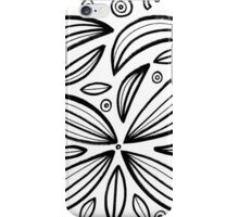 Rieu Abstract Expression Black and White iPhone Case/Skin