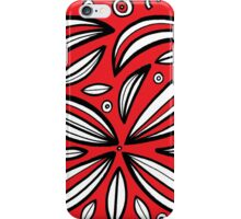 Tempest Abstract Expression Red White Black iPhone Case/Skin