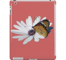 White Daisy and Butterfly Vector Background Removed iPad Case/Skin