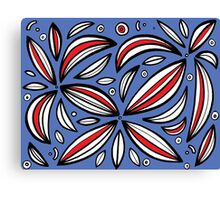 Popec Abstract Expression Red Blue Canvas Print