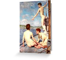 The Bathers by Henry Scott Tuke, 1889 Greeting Card