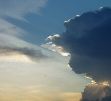 Thunderhead rolling in by Michele Conner
