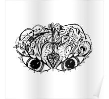 Eyes Mask Aussie Tangle  Poster