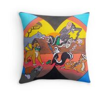 the horrible hunting 4 Throw Pillow