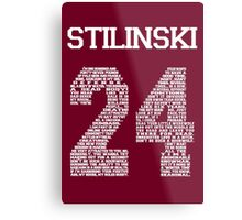 """Stiles """"Quote"""" Jersey (UPDATED) Metal Print"""