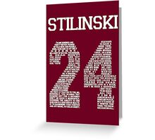"""Stiles """"Quote"""" Jersey (UPDATED) Greeting Card"""